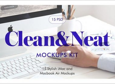 Clean&Neat - iMac Macbook Mockups