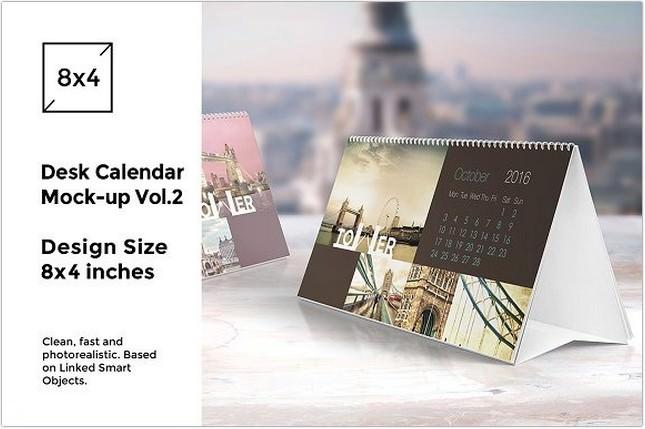 Desk Calendar Mock-Up vol.2