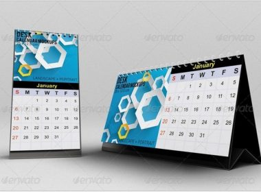 Desk Calendar Mockups #2