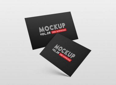 FREEBIE - Business card PSD Mockup Vol. 5