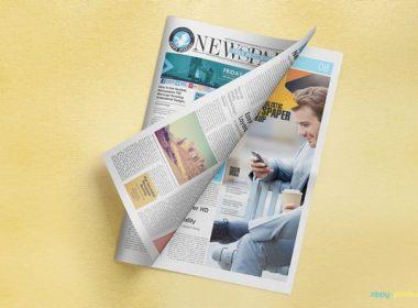 Free Brilliant Newspaper Adverts Mockup