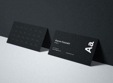 Free Business Card Mockup # 3