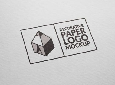 Free Decorative Paper Logo Mockup