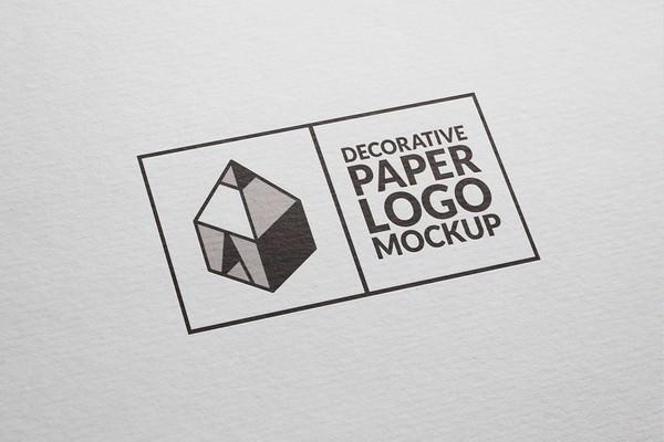 Free Decorative Paper Logo Mockup