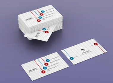 Free Horizontal Bulk Business Card Psd Mockup