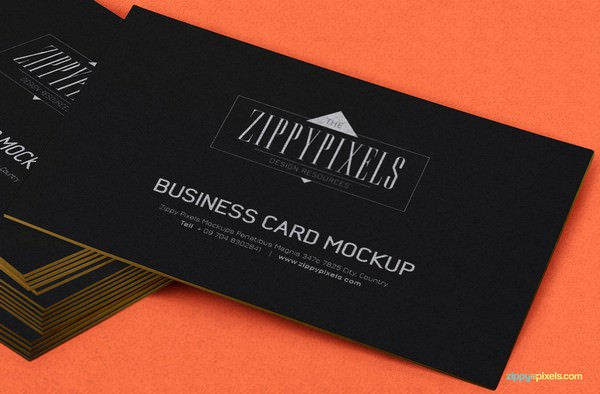 Free Stacked Business Card PSD Mockup