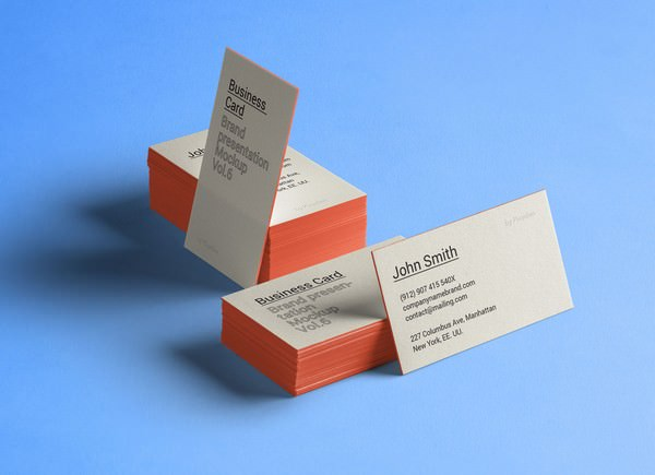 Free Thick Business Card Mockup PSD