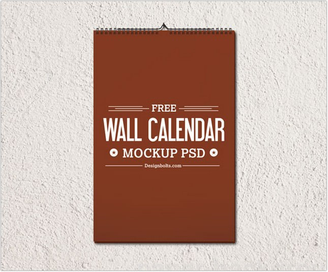 Free Wall Calendar Design Template