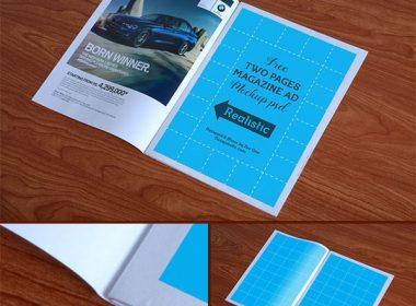 High Quality Magazine Ad Mockup PSD