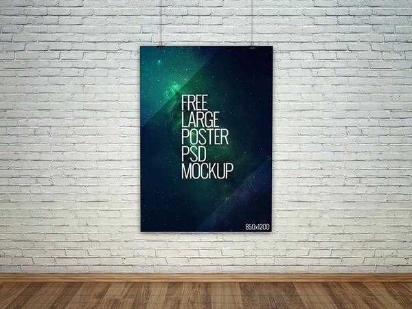Large Poster PSD Mockup