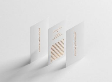 Modern Vertical Business Card Mockup