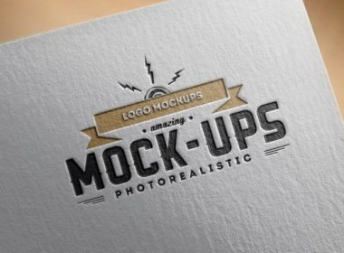 Paper Edition Logo Mockup