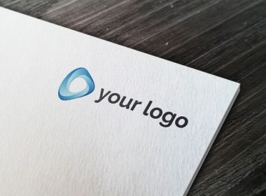 Paper Logo MockUp On Wooden Texture