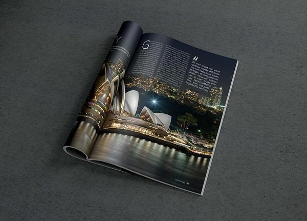Photorealistic Magazine MockUp (FREE PSD)
