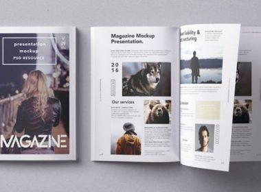 Psd Magazine Mockup Vol9