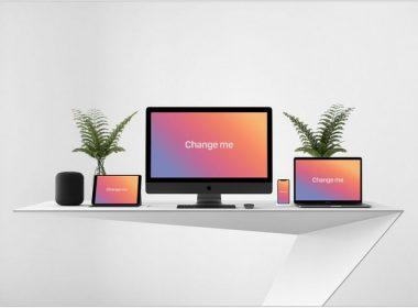 Responsive Web Design Apple Devices Mockup