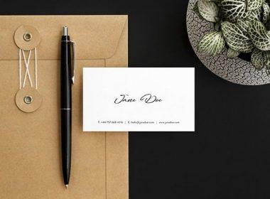 Scandi Minimalist Business Card Mockups Set