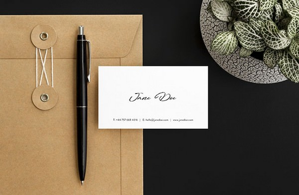 Scandi Minimalist Business Card Mockups Set