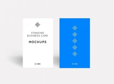 Standing Business Card Mockups