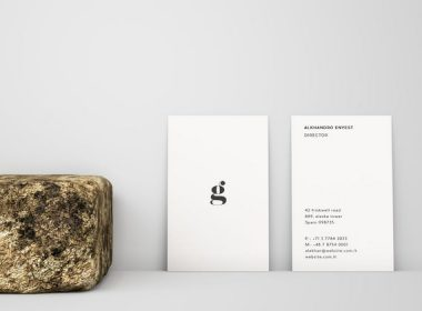 Vertical Business Card Mockup – Front & Back