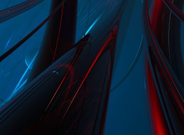 3840 × 2160 HD Abstract Wallpaper dark black, red, Blue background