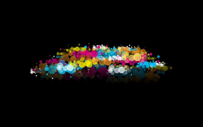 1920 × 1200 Black Abstract Colorful Light Effect 1920 × 1200 Background