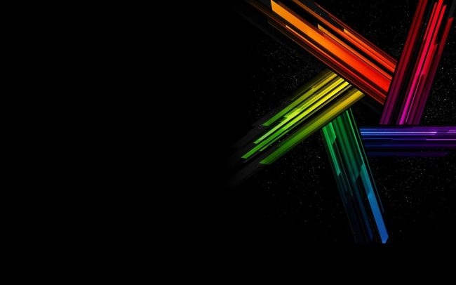 1920 × 1200 Colorful Abstract Black Background