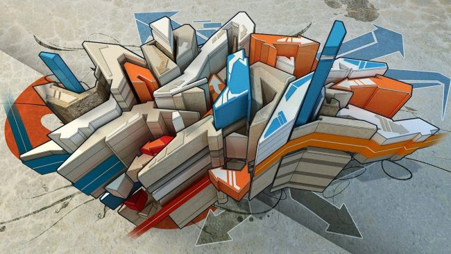 1920 × 1080 Perfect GroundGraffiti art colourful hd wallpaper