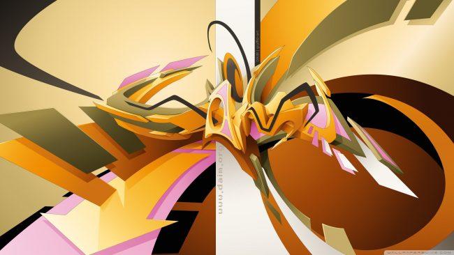 2560 × 1440 Beautiful Design graffiti hd desktop wallpaper