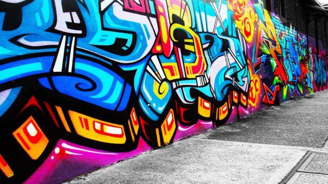 1920 × 1080 Graffiti Art Painted HD Wallpaper for Widescreen