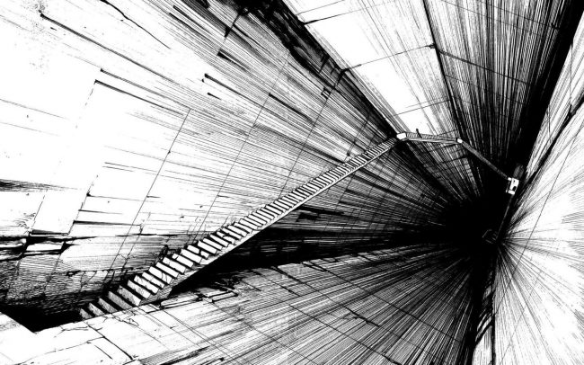 1920 × 1200 Black and Whit Deep Abstract HQ