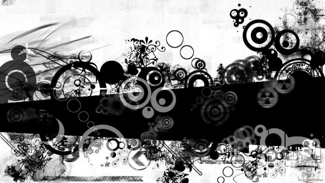 1920 × 1080 Black and White Design Abstract wallpaper