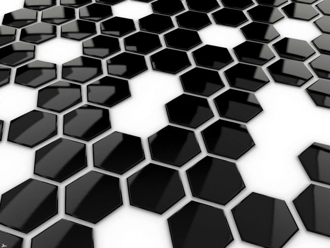 1600 × 1200 Hexa Black and White wallpaper