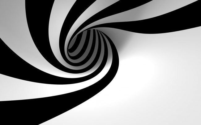 2560 × 1600 HD Spiral Black and White