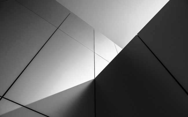 1920 × 1200 Black and White Building Abstract Background