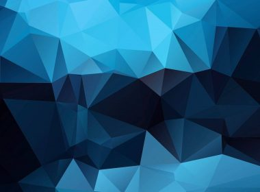 Blue Abstract Geometry 4K-4216×2372