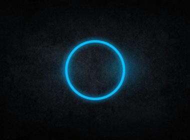 2560×1600-Black, Blue Circle Abstract Darkness