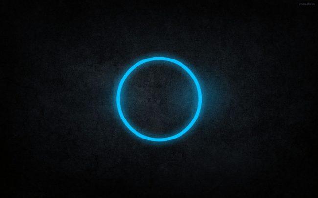 2560 × 1600 Black, Blue Circle Abstract Darkness
