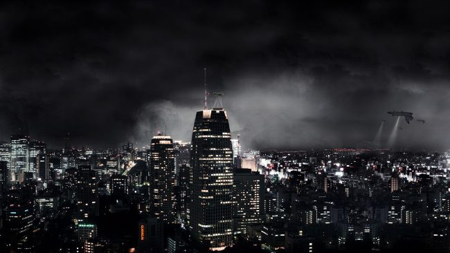 1920 × 1080 Dark City Wallpaper Abstract Dark