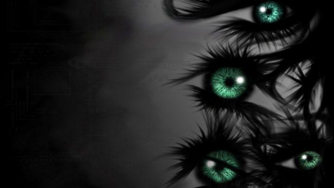 1920 × 1080 Eyes Dark Abstract Wallpapers HD 1920 × 1080