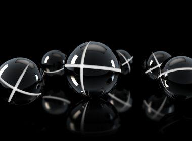 2560×1440-Abstract Dark Shapes Balls Wall