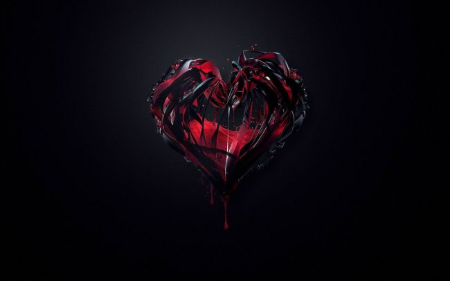 1920 × 1200 Dark Heart Abstract Wallpapers