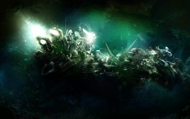 2560 × 1600 Stunning Dark Green Background