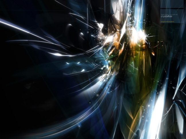 1600 × 1200 Crystal Dark Abstract Desktop Background