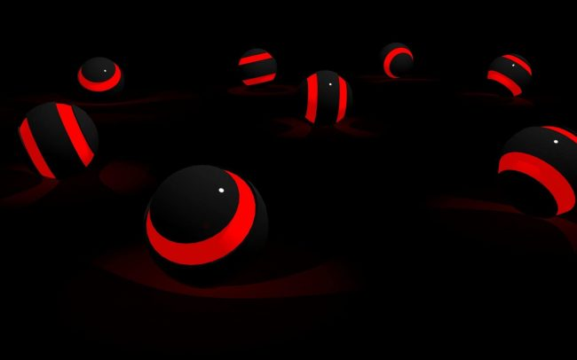 1920 × 1200 Preview wallpaper Balls, Red, Black 1920 × 1200