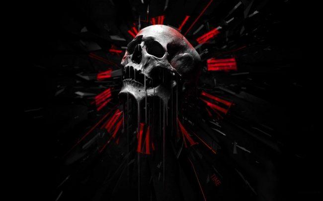 1920 × 1200 Skull Clock HD Wallpaper | Background