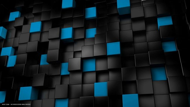 1920 × 1080 Blue and Black Box hd Wallpaper Widescreen 1080p