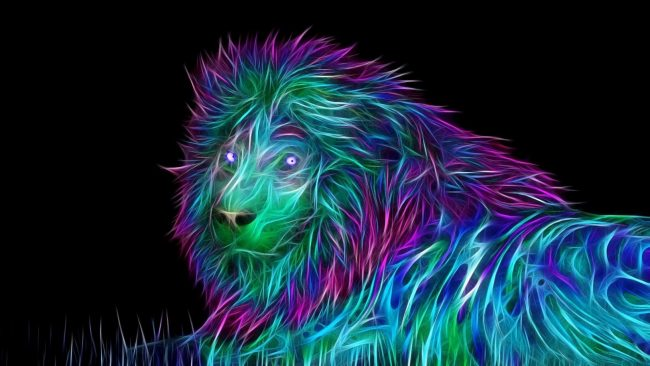 1920 × 1080 Lion Abstract 1080p