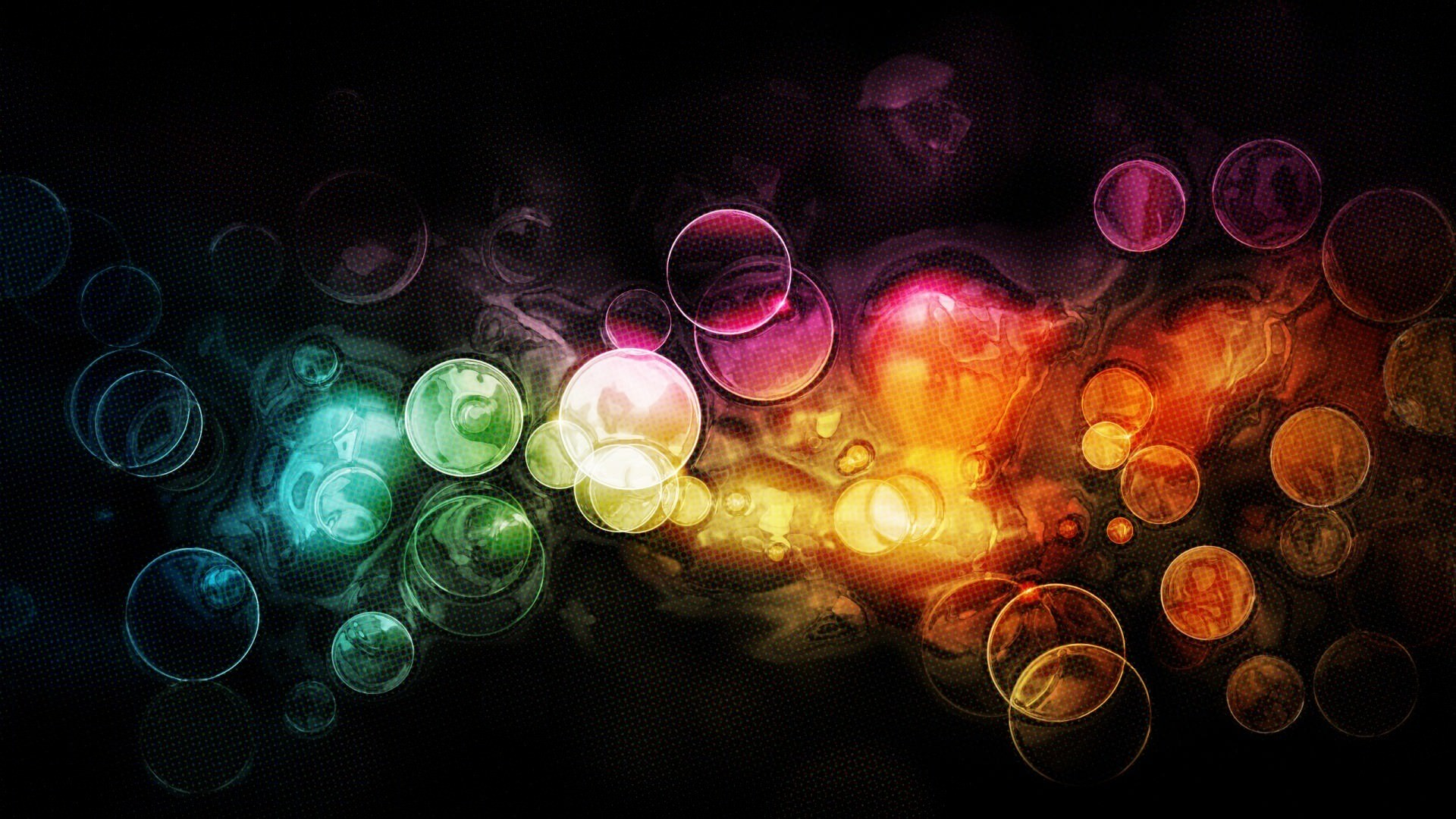 1920 1080 Colorful Bubble Wallpaper Abstract Art