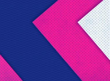 3840 × 2160-Material Pink, Blue, White Abstract Wallpaper